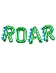 Balões alumínio letras ROAR verde 40 cm