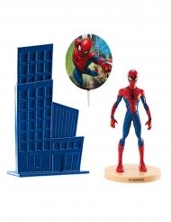 Kit topo de bolo em plástico Spiderman™ 8.5 cm