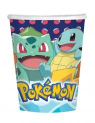 8 Copos de cartão Pokemon™ 250 ml