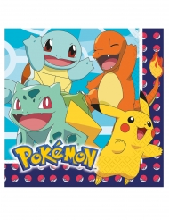 16 Guardanapos de papel Pokemon™ 33 x 33 cm