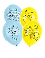 6 Balões de látex Pokemon™ 30 cm