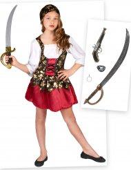 Pack disfarce e acessórios de pirata menina