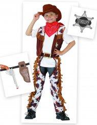 Pack disfarce cowboy menino com acessórios