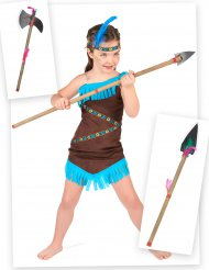 Pack disfarce de índia com lança e machado menina