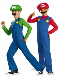Disfarce de casal Mario™ e Luigi™ crianças