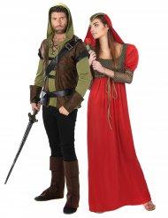 Disfarce homem dos bosques e princesa medieval
