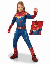Disfarce luxo Capitã Marvel™ menina