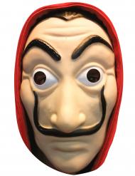 Máscara de cartão ladrão adulto