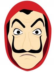 Máscara ladrão de cartão adulto