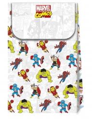 6 Sacos de cartão premium Avengers™ pop comic 21 x 13 cm