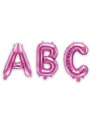 Balão alumínio letra fúschia 35 cm
