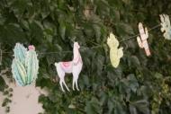 Grinalda de papel Lama Peruano 17 x 25 x 300 cm