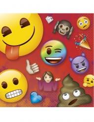 16 Guardanapos de papel Emoji Rainbow™ 33 x 33 cm