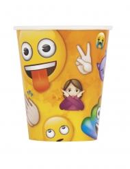 8 Copos de cartão Emoji Rainbow™ 266 ml