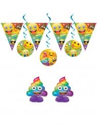 Kit aniversário Emoji™ Rainbow™ 7 peças
