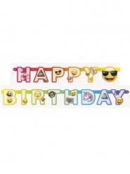 Grinalda de cartão happy birthday Emoji Rainbow™ 1.8 m