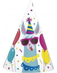 8 Chapéus de festa de cartãoa aniversário lama