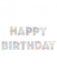 Grinalda de cartão happy birthday iridescente 2.20 m