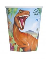 8 Copos de cartão dinossauros 266 ml