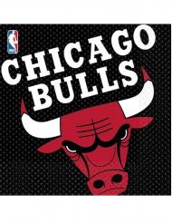 16 Guardanapos em papel Chicago Bulls™ 33 x 33 cm