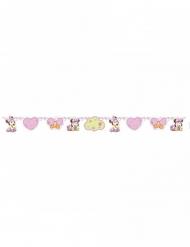 Grinalda de cartão bebé Minnie™ rosa 150 x 13 cm