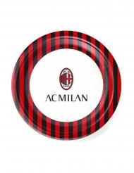 8 Pratos de cartão AC Milan™ 23 cm