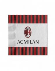 20 Guardanapos de papel AC Milan 33 x 33 cm