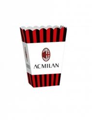 4 Caixa de pipocas em cartão AC Milan™ 13,5 x 8,5 x 19 cm