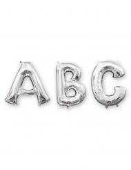 Balão alumínio letra prateada 33 cm