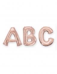 Balão alumínio letra cor-derosa gold 81 cm