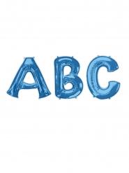 Balão alumínio letra azul 81 cm