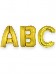 Balão alumínio gigante letra dourada 1 m