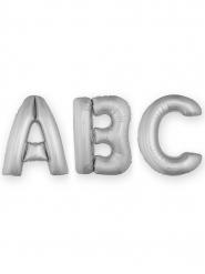 Balão alumínio gigante letra prateada 1 m