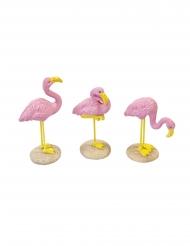 1 Flamingo rosa de resina 3.5 x 10 cm