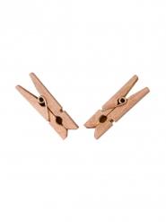 25 Molas de madeira cor-de-rosa gold 6 x 3 cm