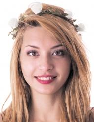 Coroa com lindas flores brancas adulto