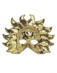 Máscara sol dourado plástico adulto