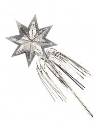 Varinha de fada estrela prateada