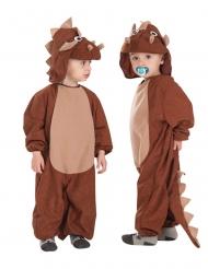 Disfarce macacão triceratops criança