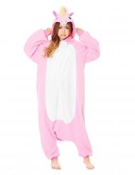 Macacão Kigurumi™ unicórnio cor-de-rosa adulto