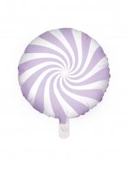 Balão alumínio chupeta roxo e branco 45 cm