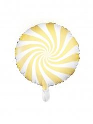 Balão alumínio chupeta amarelo e branco 45 cm