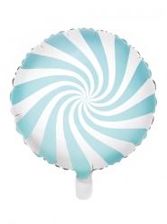 Balão de alumínio chupeta turquesa e branco 45 cm