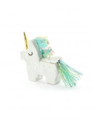 Pinhata mini unicórnio branco 8 x 2.5 cm