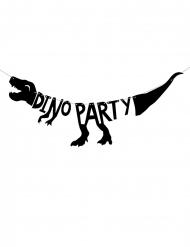 Grinalda de cartão esqueleto dino party preto 90 x 20 cm
