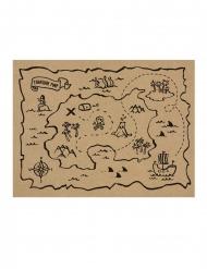 7 toalhas em papel kraft mapa do tesouro 40 x 30 cm