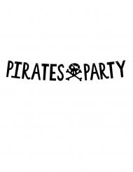 Grinalda de cartão pirates party preto 14 cm x 1 m