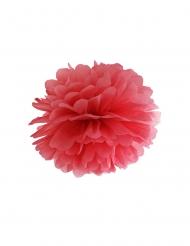 Pompom para pendurar de papel vermelho 35 cm