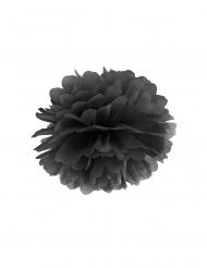 Pompom de pendurar em papel preto 35 cm