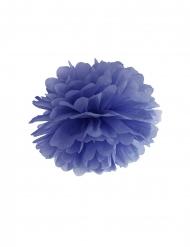 Pompom de pendurar em papel azul marinho 35 cm